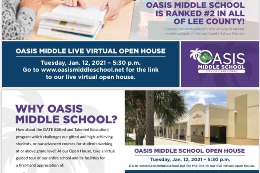 Open House - For Incoming 6th Grade Students